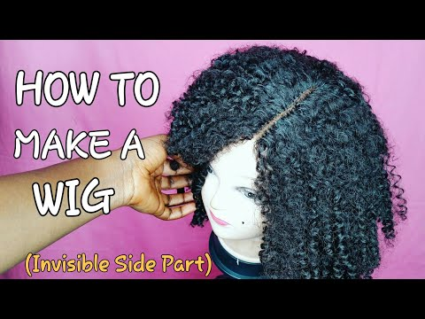 DIY How To    Make Your Own Closure    Invisible Side Part Wig