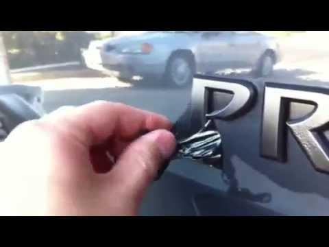 Nissan Xterra Blacked Out >> Peeling off plasti-dip on emblem/badge Nissan Xterra Pro-4X - YouTube