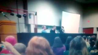 Lauren Cohan , Joseph Morgan & David Anders @ Mega Con
