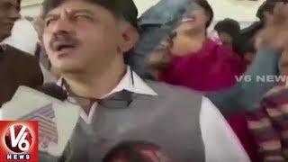 Karnataka Minister Shivakumar Slaps Student For Taking Selfie | Belgaum  New