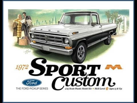 How to Build the 1972 Sport Custom Ford Pickup Truck 1:25 Scale Moebius Model Kit #1220 Review