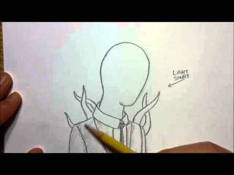 Slender Man Easy Drawing How to Draw Slender Man