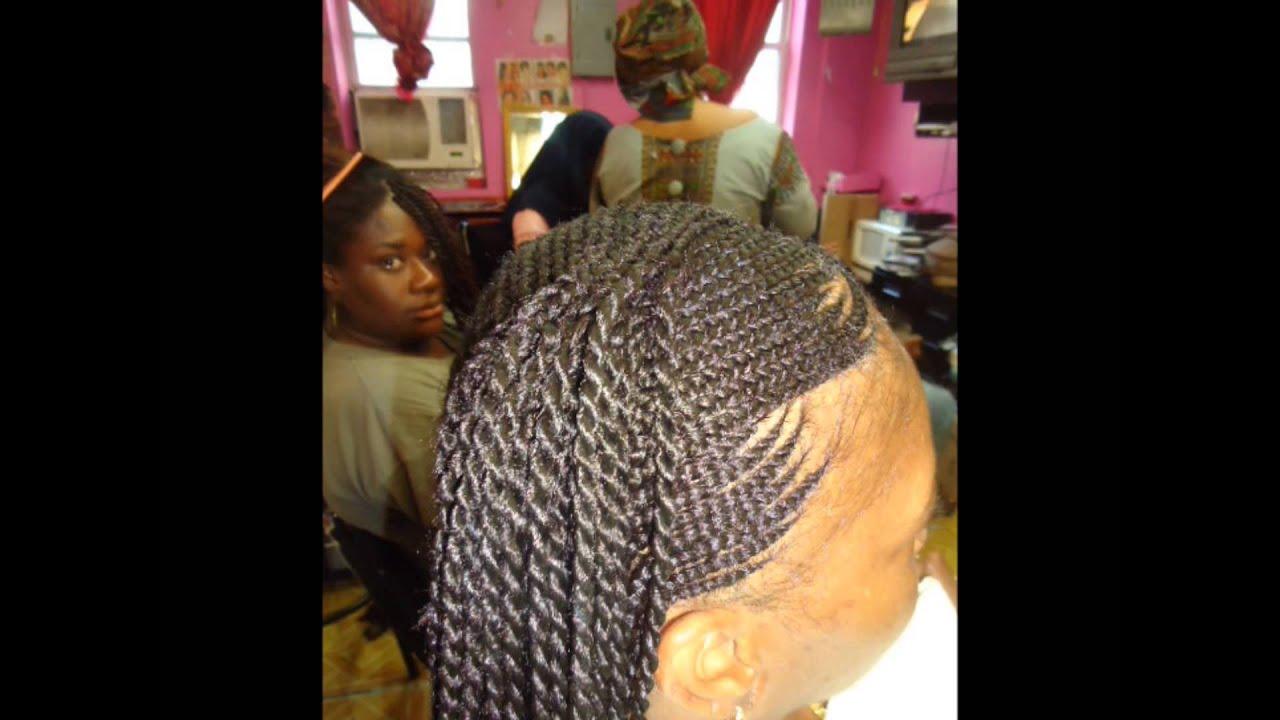 African Hair Braiding In Harlem Youtube