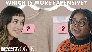 Cheap Vs. Expensive Sweaters - What's Behind The Cost? | Teen Vogue