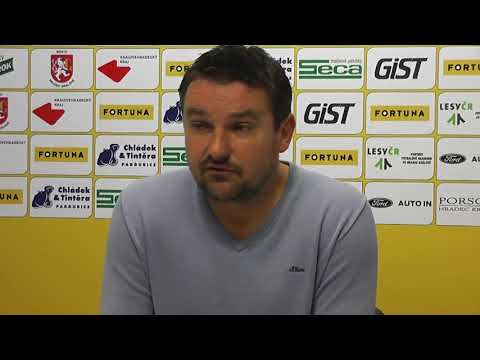 Tisková konference po čtvrtfinálovém souboji FC Hradec Králové - FC Fastav Zlín