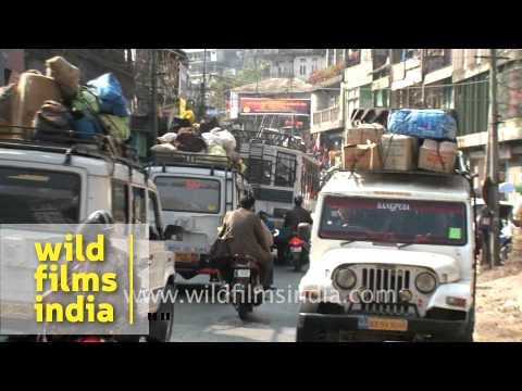 Busy Streets Of Aizawl, Mizoram video