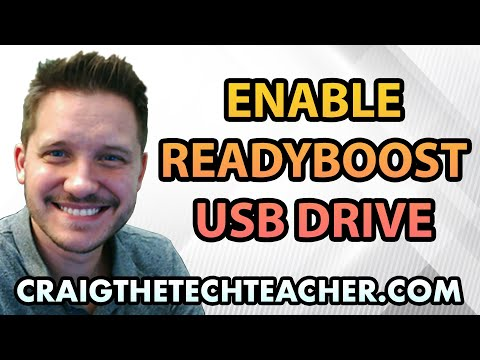 How To Enable USB Flash Drive Windows 7 ReadyBoost - Ep. 14