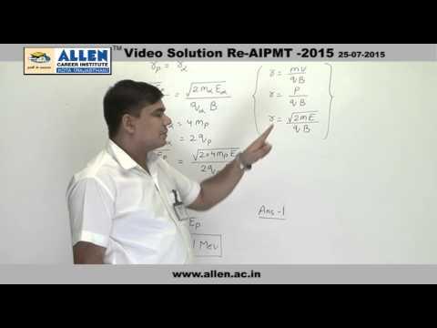 AIPMT 2015 Re-Exam Physics Solution – Q. No. 169, 171, 172, 174 (Paper Code-A)