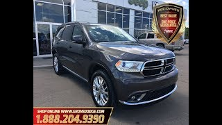 2016| Dodge| Durango| Limited| AWD| Leather| Low KM| Dual DVD| Seats 7| Grove Dodge