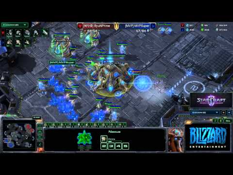 StarCraft 2 HotS- ByuN (T) vs. Super (P)