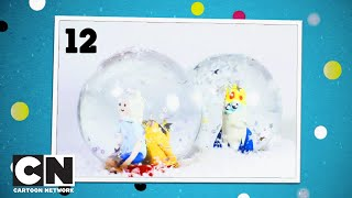 "Adventskalender | Tag 12 | Schneekugel mit ""Adventure Time""-Figuren 
