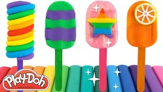 How to Make Play-Doh Popsicles with Molds * Fun for Kids * RainbowLearning