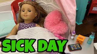 American Girl Doll Sick Day