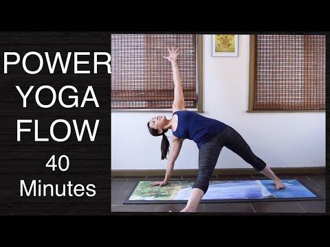 Power Vinyasa Flow Yoga Class  - 40 Minutes (Intermediate) #poweryoga