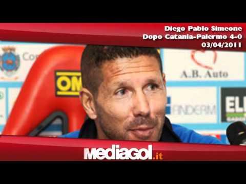 Diego Pablo Simeone dopo Catania-Palermo 4-0 - Mediagol.it