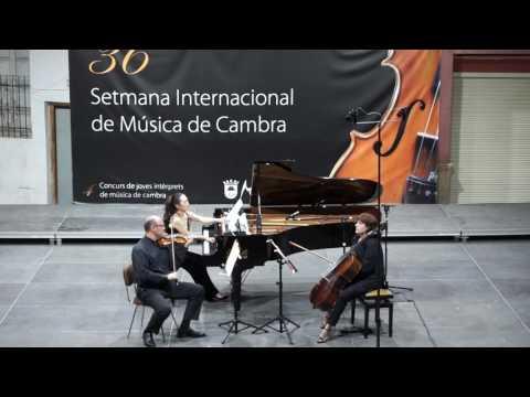 Ayako Fujiki (piano), Cristian Chivu (violí) i Magdalena Cristea (violoncel). SIMC Montserrat
