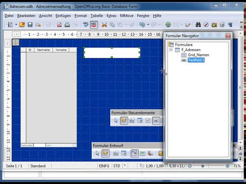 04 OpenOffice Base: Ein Formular erstellen