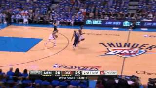 NBA Playoffs Conference 2013: Memphis Grizzlies Vs Oklahoma City Thunder Highlights May 5, Game 1