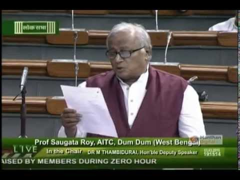 Saugata Roy raises a matter on Privatisation of Airports in 4 cities of India in LS