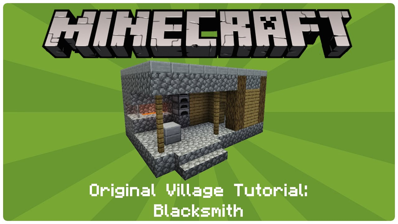 How to build an npc village blacksmith youtube for How to build a blueprint