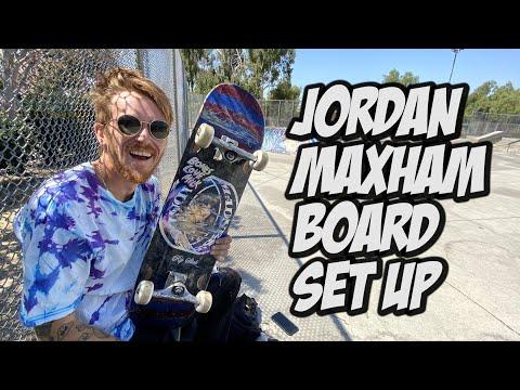 Jordan Maxham Skateboard Set Up & Interview !!! NKA VIDS