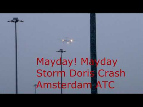 Emergency Landing Flybe Crash Amsterdam Airport ATC Pilot Audio
