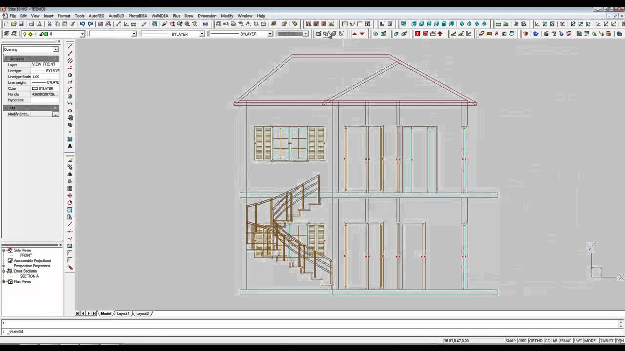 3d bim architecture 2d drawings cross sections for Architecture 2d