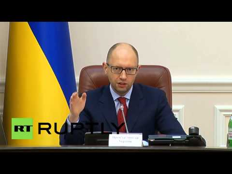 Ukraine: PM Yatsenyuk vows tit-for-tat trade restrictions for Russia