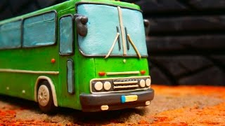 Ikarus 250 Как слепить автобус из пластилина |Tutorial how to sculpt bus from clay(Play Doh)