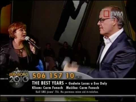 Godwin Lucas and Eve Daley - The Best Years - Malta Song 2010