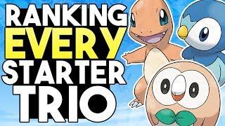 Ranking EVERY Starter Trio Pokemon From Worst To Best