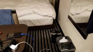 My Room at the APA Akihabara-ekimae Hotel Tokyo Sept 2016  -- Traveling the World from Time to Time