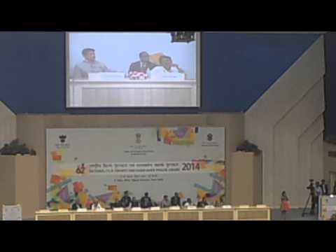 Uthara Unnikrishnan singing award winning song at 62nd National Film Awards Ceremony