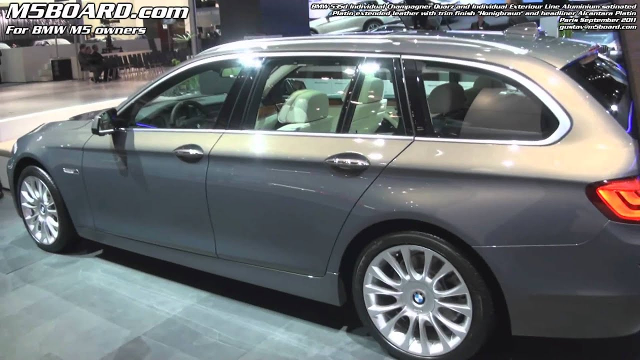 1080p Bmw 535d Touring Individual Champagner Quarz Exteriour Youtube