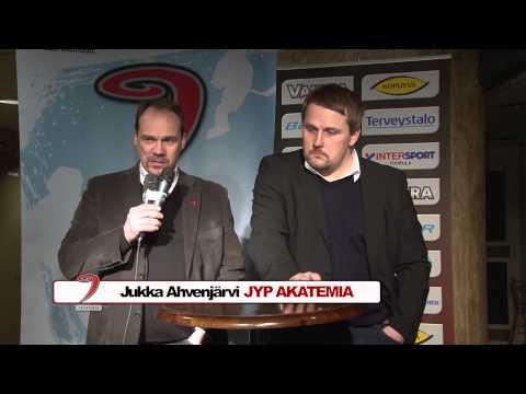 Lehdistötilaisuus ottelusta JYP-Akatemia - Jukurit 8.2.2014
