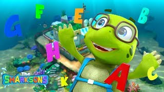 ABC Song SHARKSONS NEW!   Nursery Rhymes & Kids Songs!   Cartoons For Kids   The Sharksons