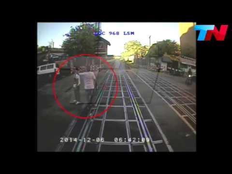 El video del accidente del joven que murió atropellado por un tren en Chacarita