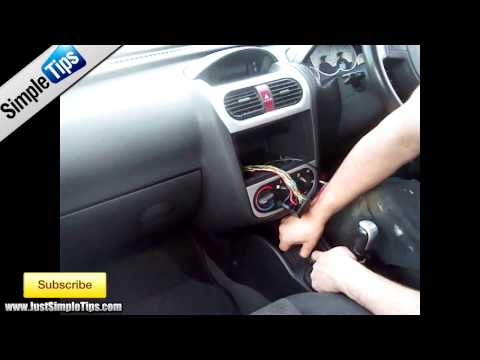 How to fit a radio into a Vauxhall Corsa CD30 (2005-2013) | JustAudioTips