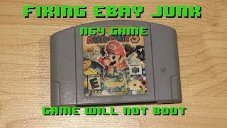 Fixing eBay Junk - N64 Game - Game won't boot up - Trace Repair