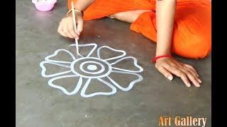 My creative big multicolour rangoli designs for all/Innovative Designs