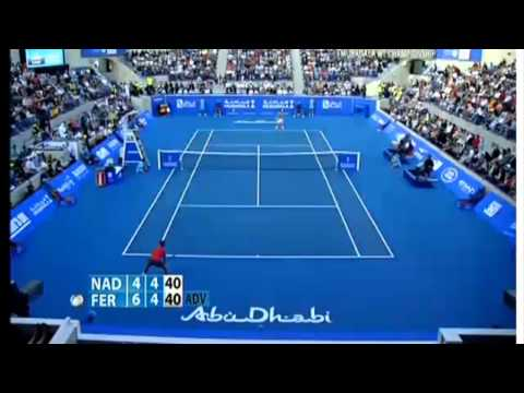 Rafael Nadal vs David Ferrer Mubadala World Tennis Championship ABU DHABI 2013-2014-highlights