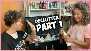 DECLUTTER NATURAL HAIR PRODUCT STASH | PART 1