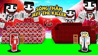 THỬ THÁCH XÂY NHÀ CHỐNG SÓNG THẦN JEFF THE KILLER CÙNG VỚI BÁC SĨ ĐIÊN TRONG MINECRAFT