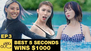 BEST 5 Seconds Slow Motion in Swimming Pool WINS $1000! (with RRILEY) | kNOCk Out Episode 3