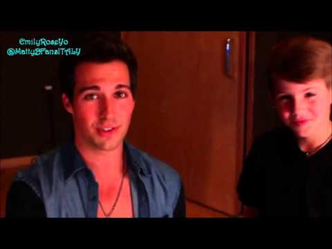 MattyBRaps and James Maslow  Behind the scenes
