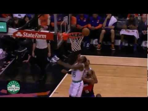 Jordan Crawford debut for the Boston Celtics - 10 points vs Phoenix Suns 2/22/2013