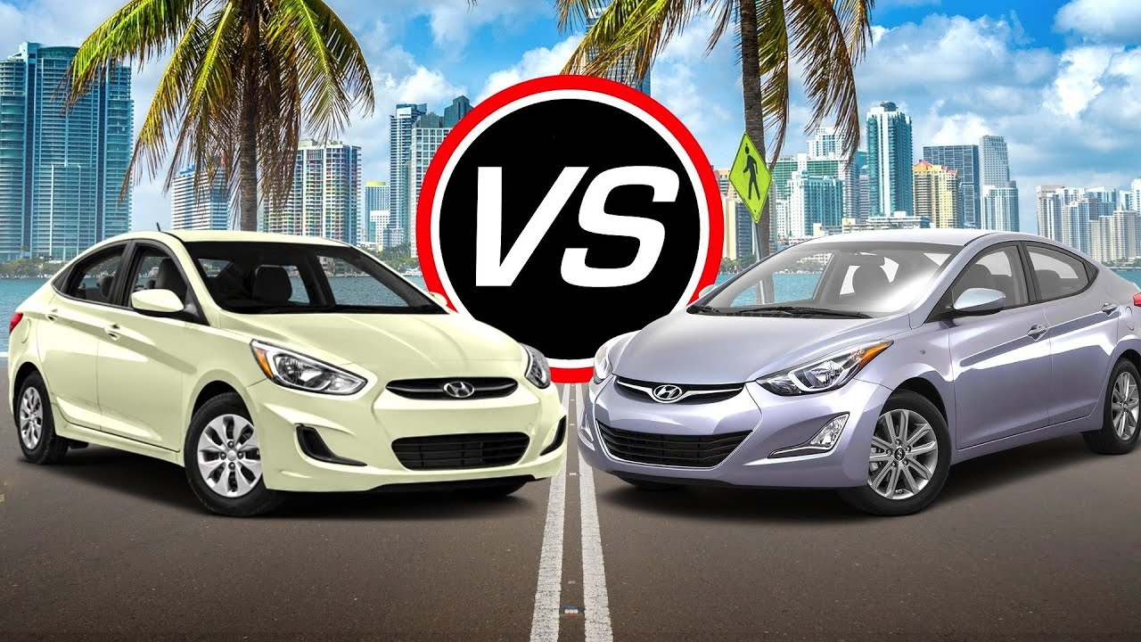 Hyundai Accent Se Vs  Hyundai Elantra Se Spec Comparison Youtube