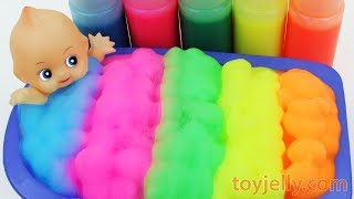 Baby Doll Color Foam Bubble Bath Time Kinder Joy Suprise Egg Toys Baby Finger Family Song for Kids