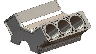SolidWorks Tutorial #200 car: Engine Block