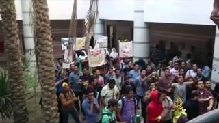 استمرار الاحتجاجات الطلابية في مصر ضد السلطة